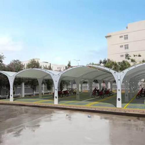 膜结构充电桩建筑的轻质,透光性以及柔性性能