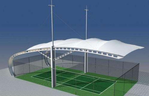 膜结构网球场