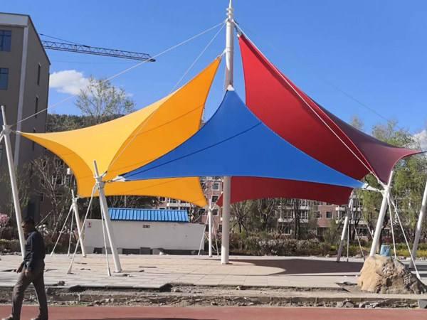 景观膜结构车棚