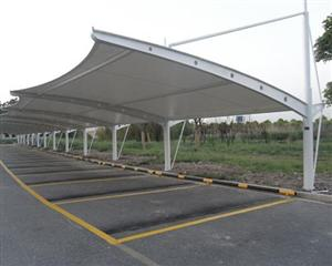 膜结构汽车停车棚景观棚