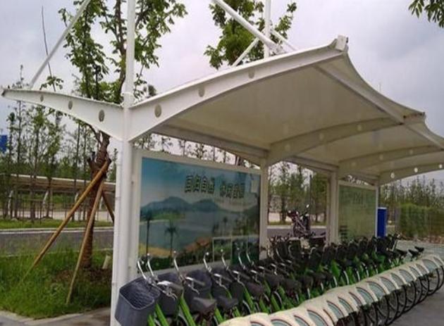 膜结构自行车停车棚工程