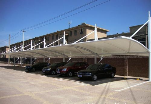 停车棚,膜结构停车棚,汽车停车棚