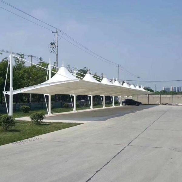 膜结构停车棚改造工程方案简单介绍