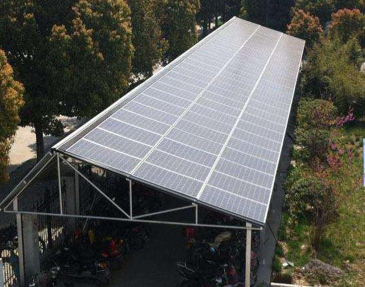 太阳能光伏板车棚