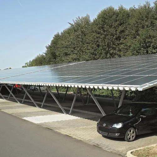 光伏电池板车棚