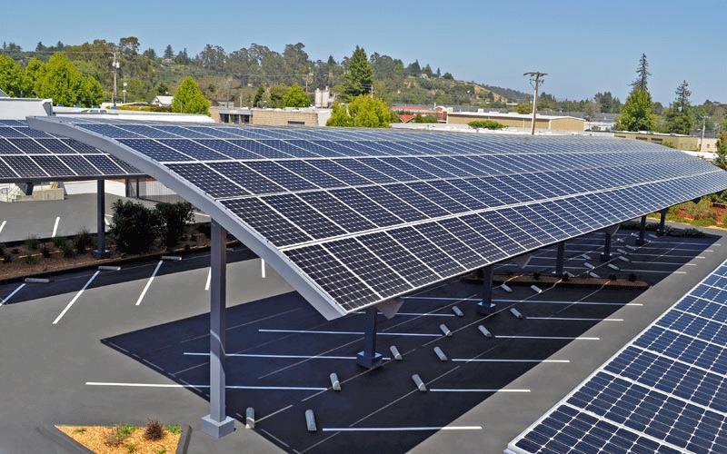 太阳能光伏板发电车棚