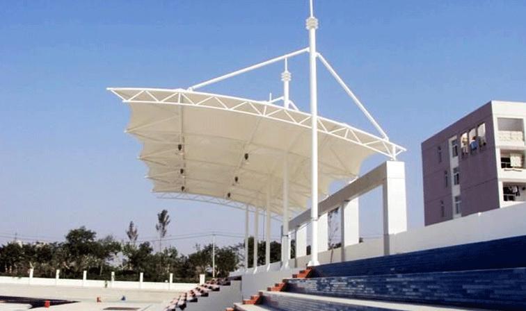 膜結構看臺在體育場的應用