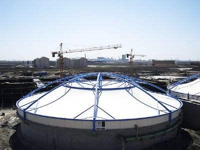 膜结构加盖污水池