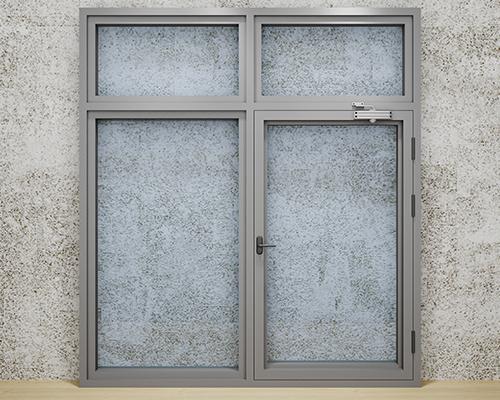 普铝非隔热防火窗