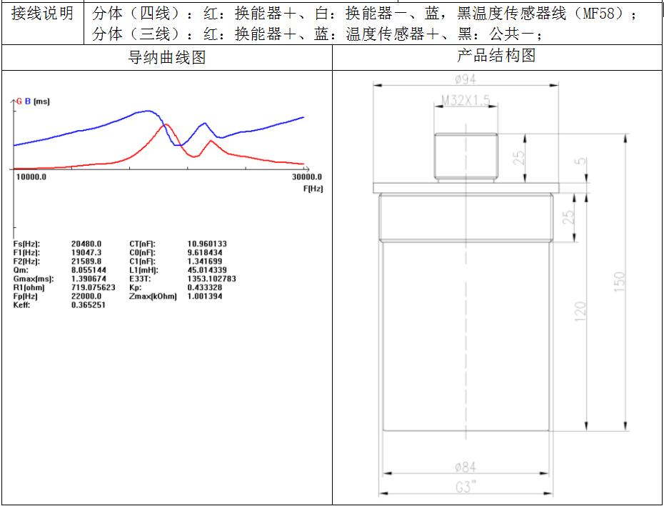 21KHz普通型换能器D型(分体式)