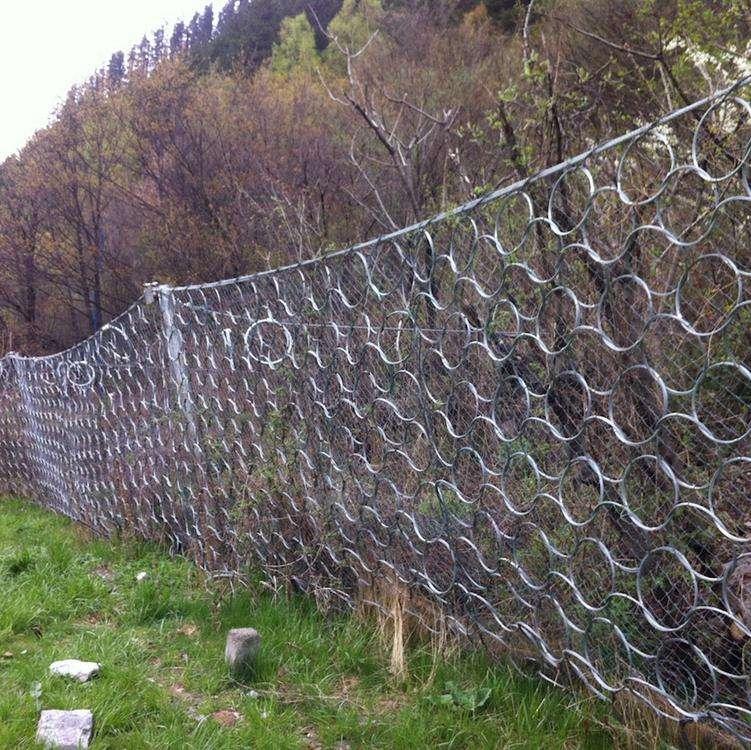 包塑钢丝边坡防护网