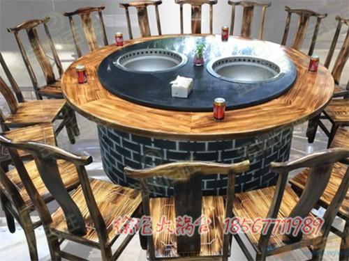 柴火铁锅炖桌子的有益效果