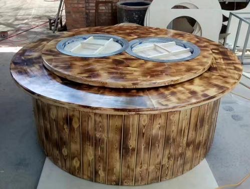 双锅旋转电陶炉铁锅炖灶台