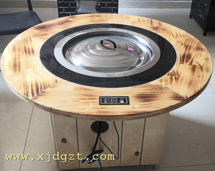 电加热铁锅炖桌子