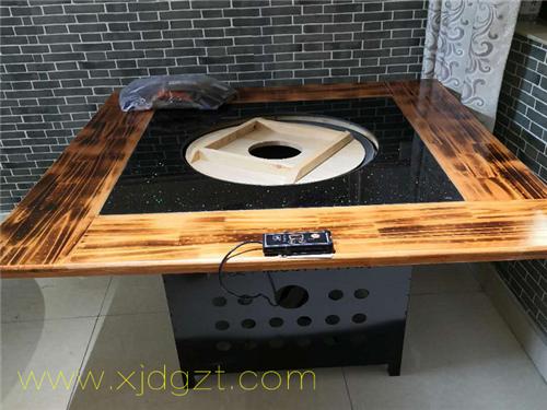 用电型铁锅炖灶台桌