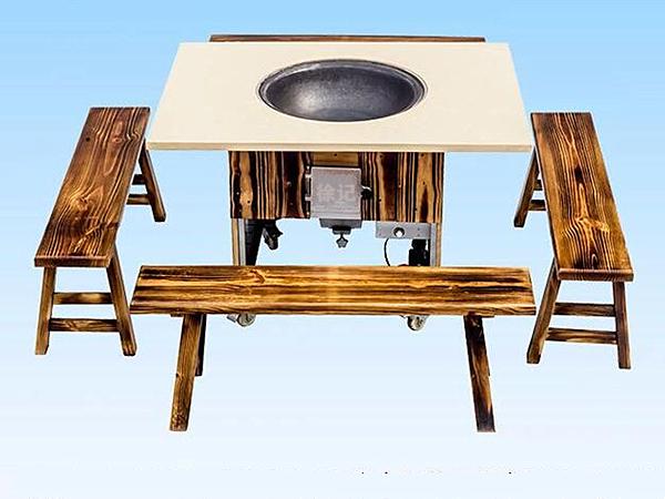 农家铁锅炖灶台