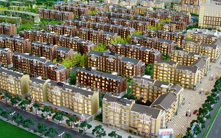 新疆房地产模型享受生活健康出行图片