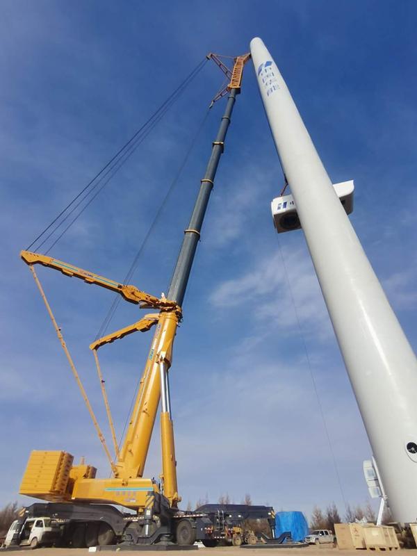 资阳吊车出租公司该如何承接风力电力工程设备的吊装使用