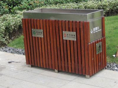 高档小区垃圾桶摆放效果图