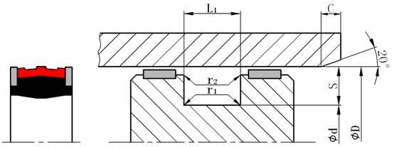 液压支架密封圈外形图