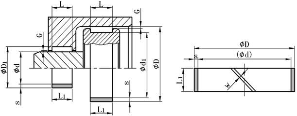 聚甲醛导向环外形图