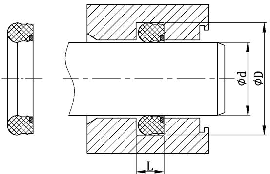 蕾型密封圈外形图