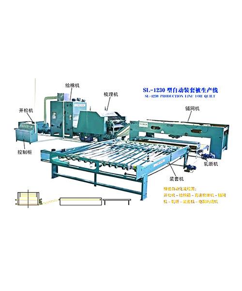 大型自动化棉被生产线