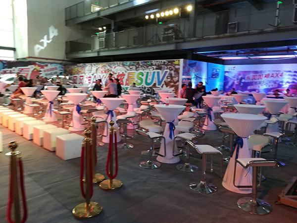 東風DX4上市慶典活動桌椅租賃案例