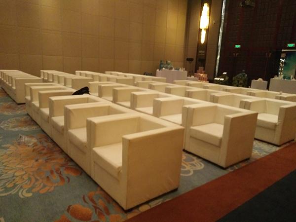 西安萬達希爾頓酒店會議桌椅租賃案例