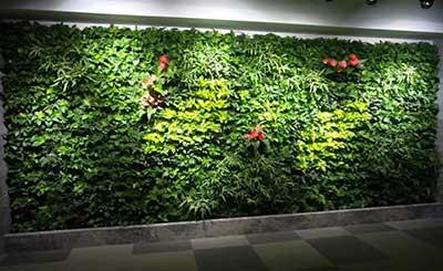 房地产公司办公室仿真植物墙设计工程案例