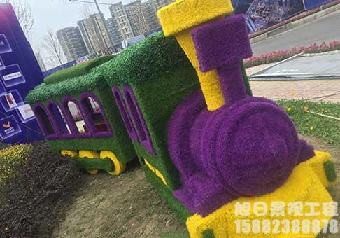 四川仿真火车绿雕