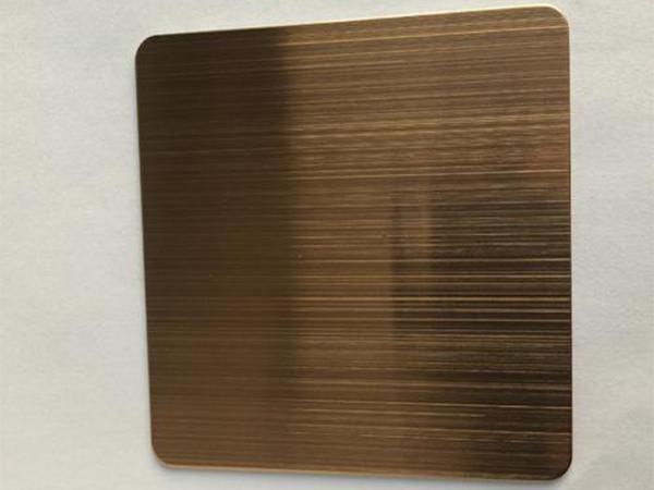彩色不锈钢镀铜板