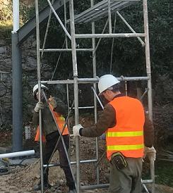膜结构充电车棚安装