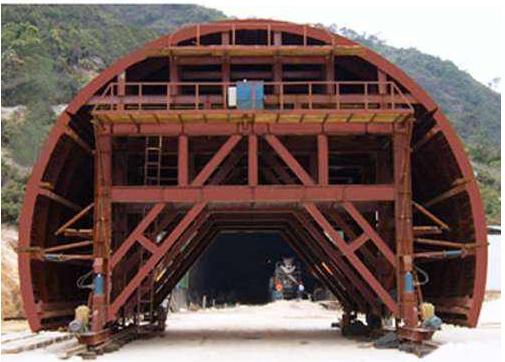隧道台车施工