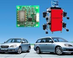 倾角传感器应用—汽车四轮定位仪