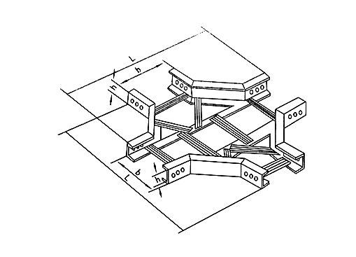 XQJ-T1-04型梯级式水平四通