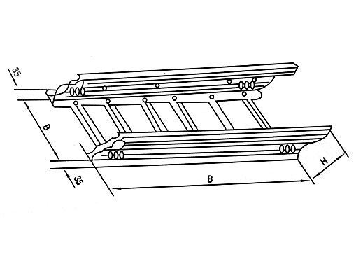 DJ-T-B型梯级式大跨距电缆桥架(B型)