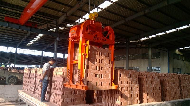 航吊式遙控液壓卸磚機|卸垛機|夾磚機|裝磚機|吊磚機