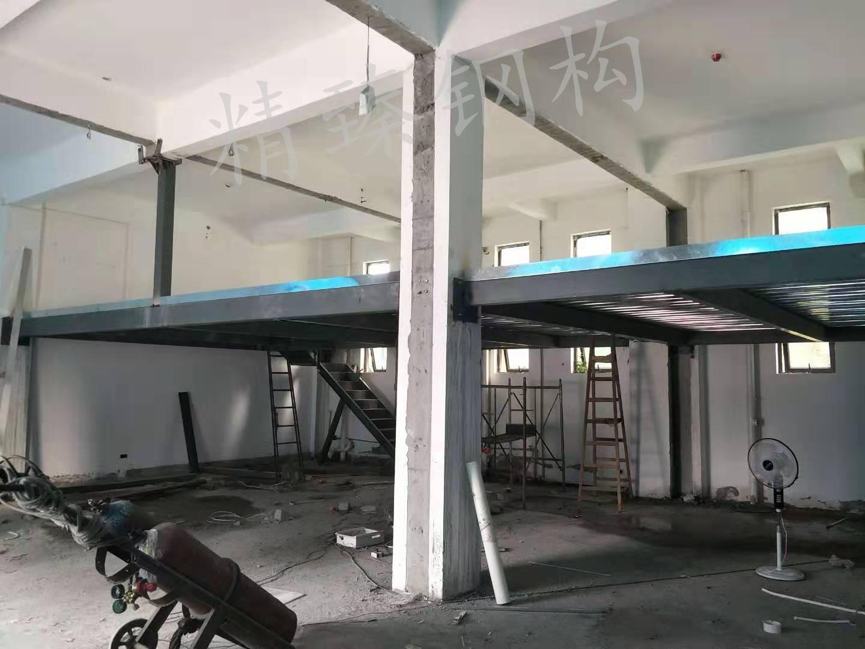 襄阳绿地独活大药房店二层钢结构平台