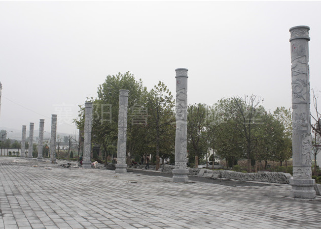 麻家渡镇罗家坡村文化广场十星文化柱