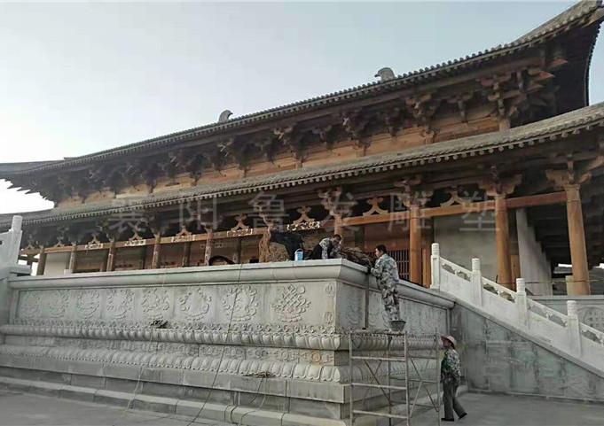 平凉寺庙大殿须弥座