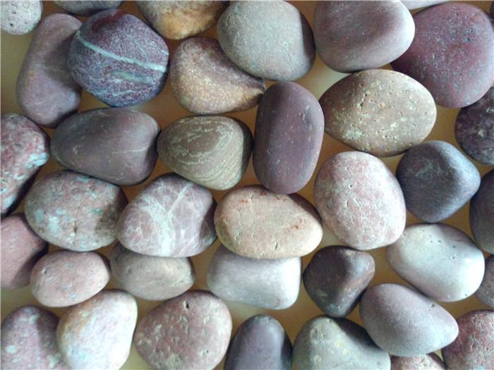 红色天然鹅卵石1-2cm