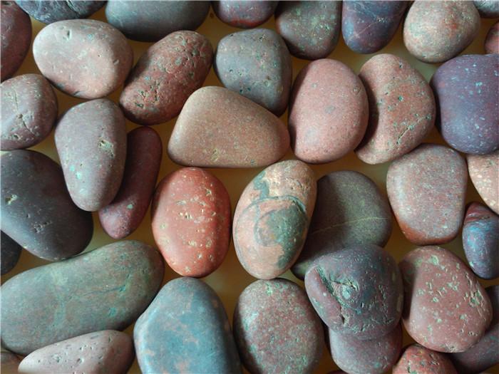 天然红色鹅卵石2-3cm