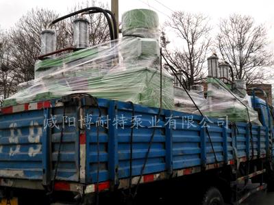 柱塞泥浆泵装车准备发货中