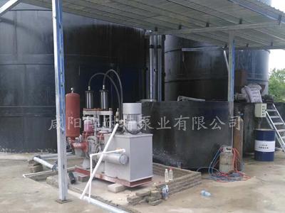 河南石材行业定做陶瓷柱塞泥浆泵使用现场