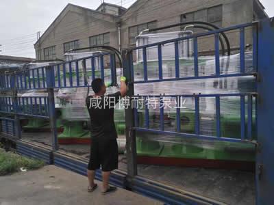 宁波浙江地区客户订购的液压陶瓷柱塞泥浆泵货已装