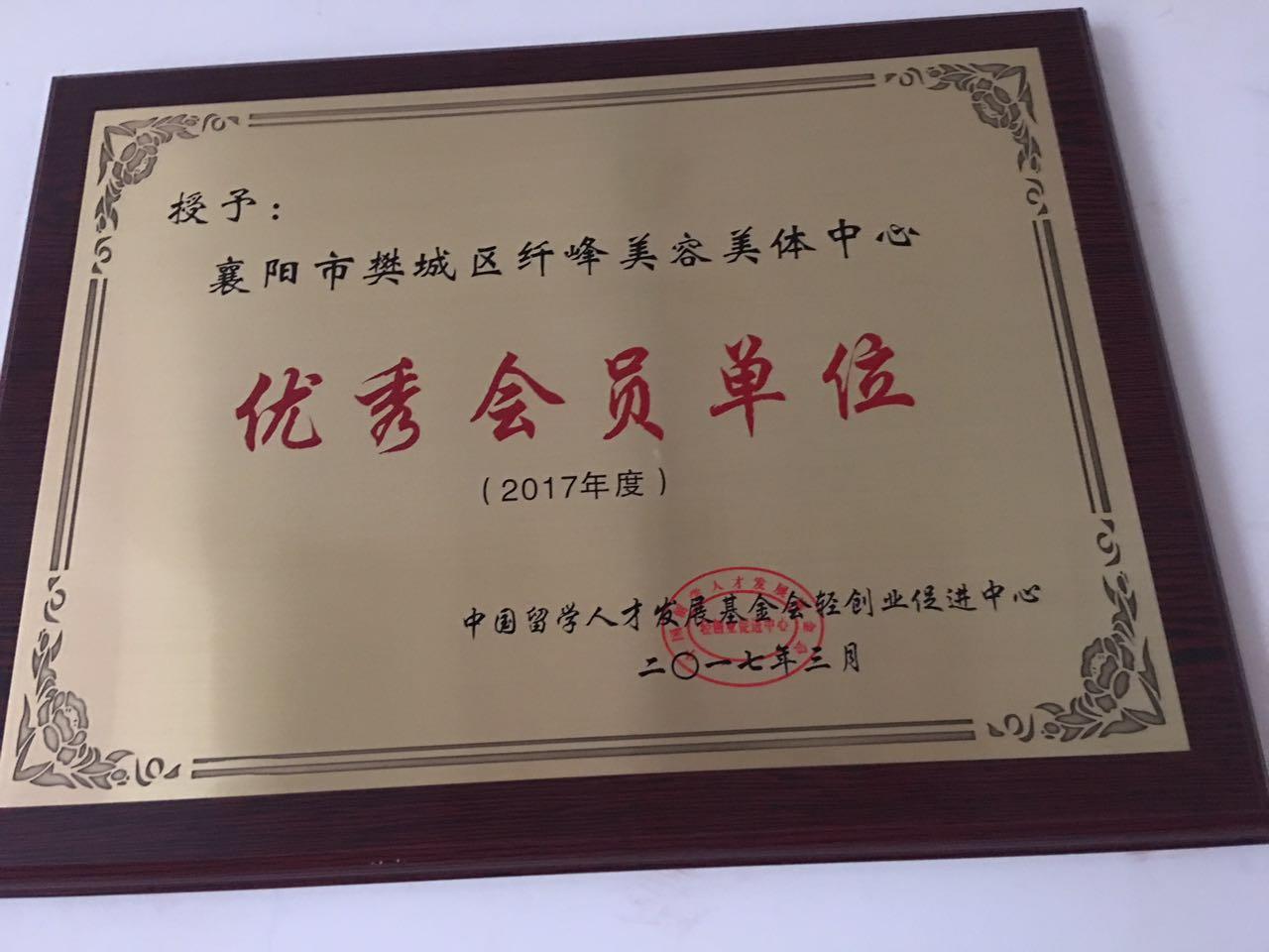 纤峰荣誉证书