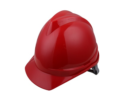 V顶ABS标准安全帽-红色