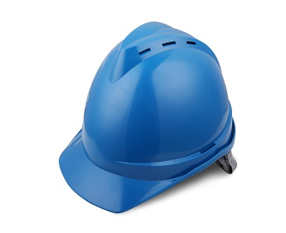 V顶ABS透气安全帽-蓝色