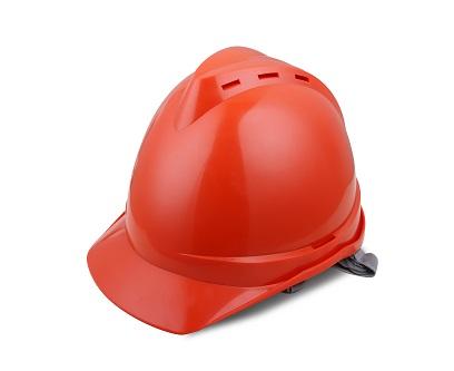 V顶ABS透气安全帽-橙色